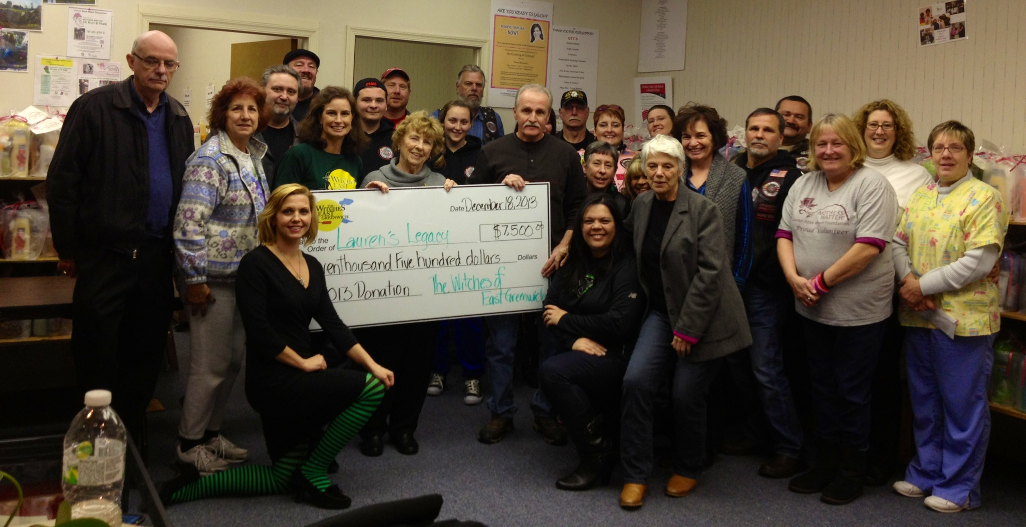 2013 Mothers Matter receives check from Witches of East Greenwich