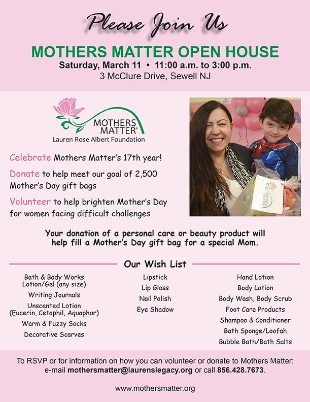 2017 Mothers Matter Open House Flyer