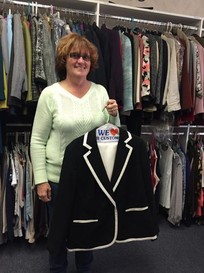 Shirley Schiavone Suited for Work Donations