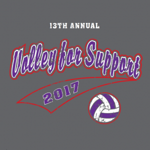 13th Annual Volley for Support TShirt Logo