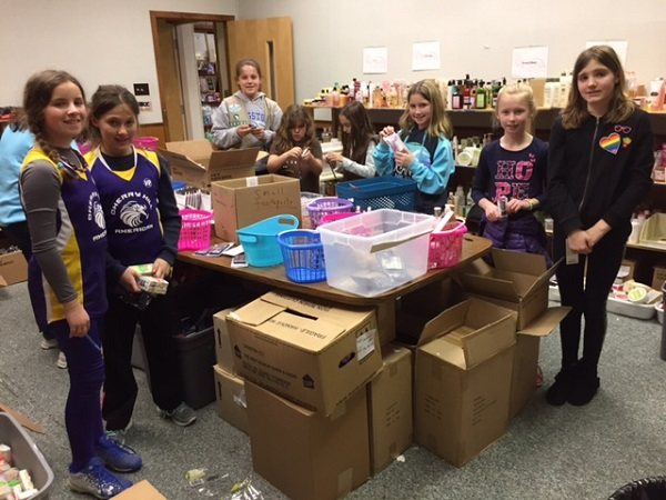 Girl Scouts sorting