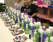 Linda Ardire-Beach and Sue Kane working on